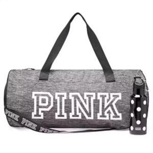 VS PINK Duffle Bag & Water Bottle Set